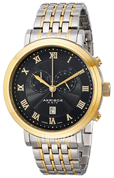 Akribos XXIV Chronograph Musta Kullansävytetty teräs Ø47 mm AK590TTG e812e84cfe