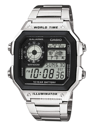 Casio Casio Collection LCD/Teräs 42x42 mm AE-1200WHD-1AVEF