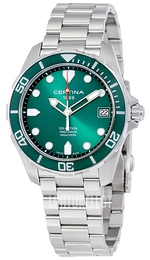 Certina DS Action Vihreä/Teräs Ø41 mm C032.410.11.091.00