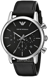 Emporio Armani Dress Musta/Nahka Ø41 mm AR1733