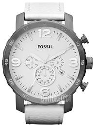 Fossil Nate Valkoinen Nahka Ø50 mm JR1423 aabba02467