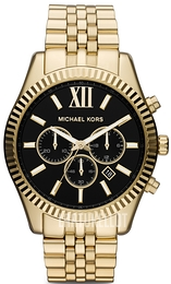 Michael Kors Lexington Musta/Kullansävytetty teräs Ø45 mm MK8286