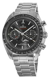 Omega Speedmaster Moonwatch Musta/Teräs Ø44.25 mm 304.30.44.52.01.001