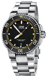 Oris Diving Musta/Teräs Ø43 mm 01 733 7653 4127-07 8 26 01PEB