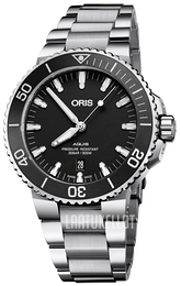 Oris Diving Musta/Teräs Ø43.5 mm 01 733 7730 4154-07 8 24 05PEB