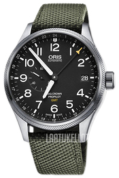 Oris Aviation Musta/Tekstiili Ø45 mm 01 748 7710 4164-07 5 22 14FC