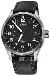 Oris Aviation Musta/Nahka Ø45 mm 01 748 7710 4164-07 5 22 19FC