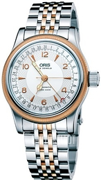 Oris Aviation Hopea/Punakultasävyinen Ø40 mm 01 754 7696 4361-07 8 20 32