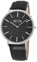 So & Co New York SoHo Musta/Nahka Ø41 mm 5103.1