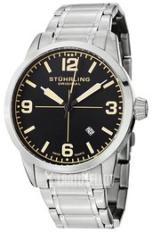 Stührling Original Musta/Teräs Ø42 mm 449B.331168