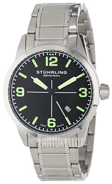 Stührling Original Musta/Teräs Ø42 mm 449B.331171