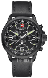 Swiss Military Sport Musta/Nahka Ø46 mm 06-4224.13.007