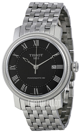 Tissot Bridgeport Powermatic 80 Gent Musta/Teräs Ø40 mm T097.407.11.053.00