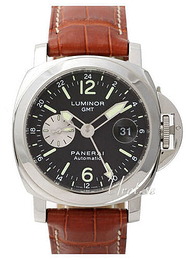 Panerai Contemporary Luminor GMT Musta/Nahka Ø44 mm PAM 088