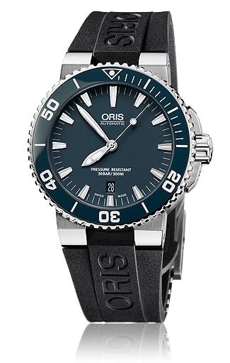 Oris Divers Aquis Date Sininen Kumi Ø43 mm ref. 01 733 7653 4155-07 4 26  34EB 9af92ed085